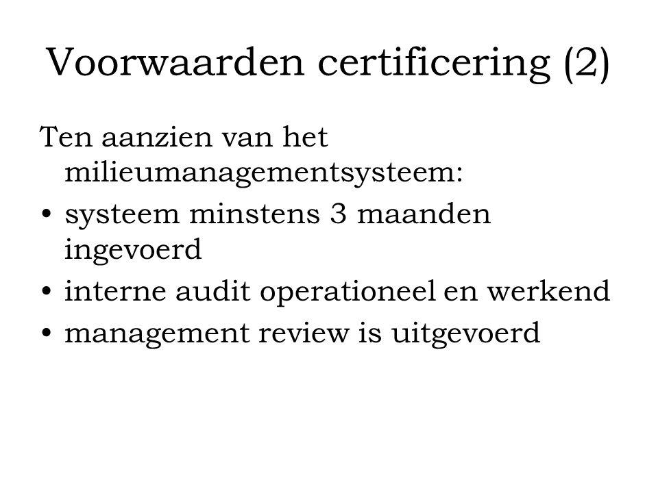 Voorwaarden certificering (2)