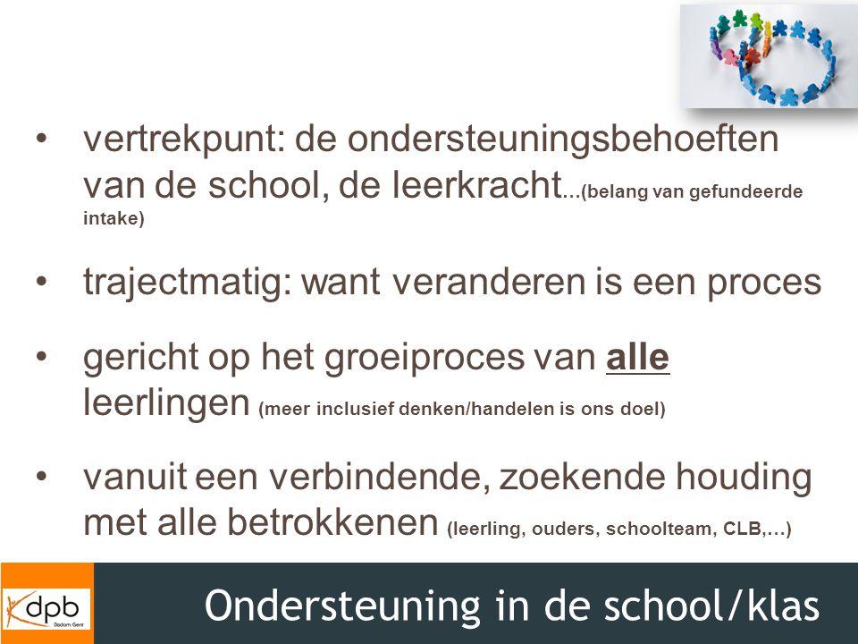 Ondersteuning in de school/klas