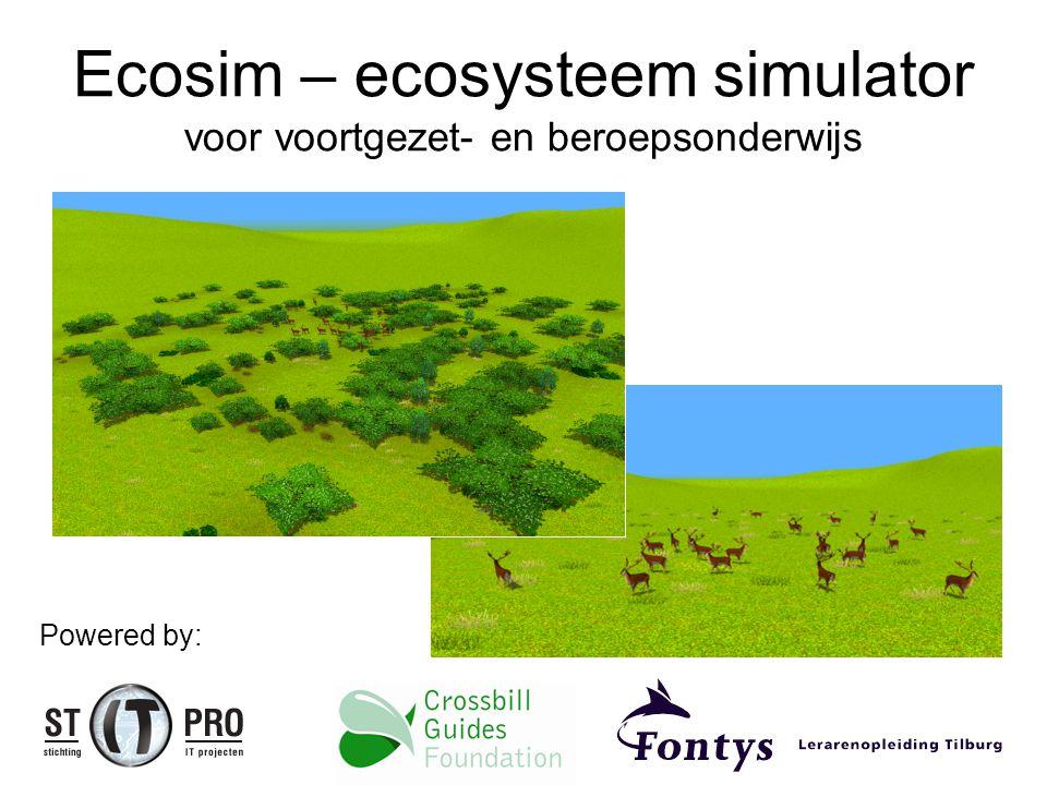 Ecosim – ecosysteem simulator voor voortgezet- en beroepsonderwijs