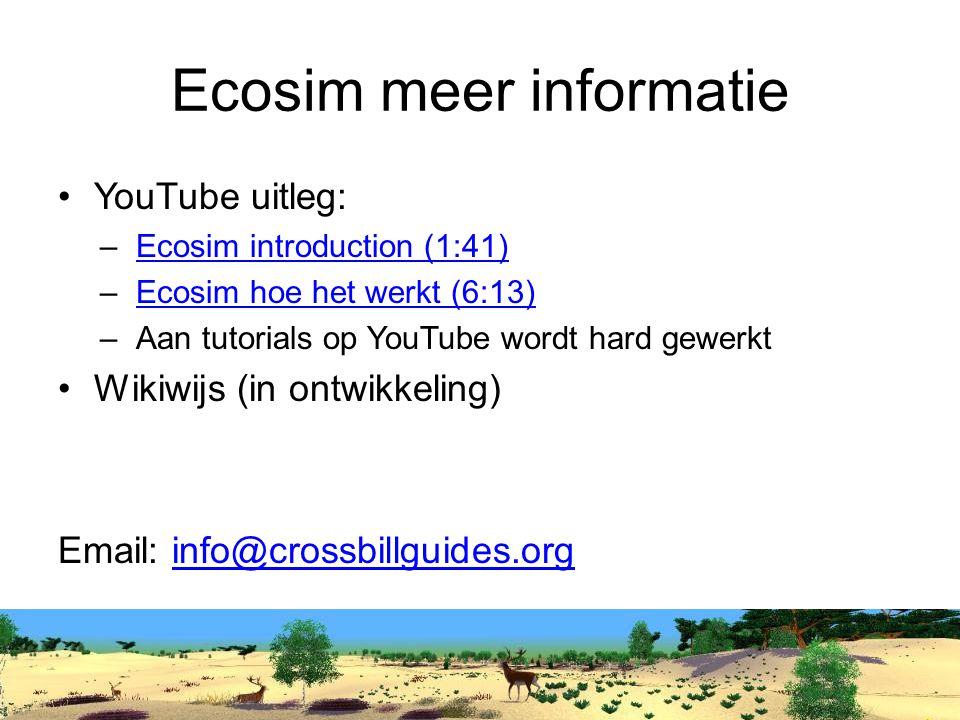 Ecosim meer informatie