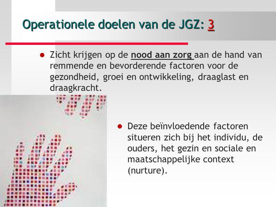 Operationele doelen van de JGZ: 3