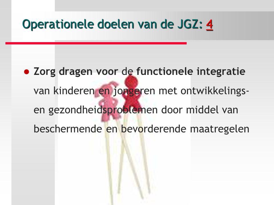 Operationele doelen van de JGZ: 4