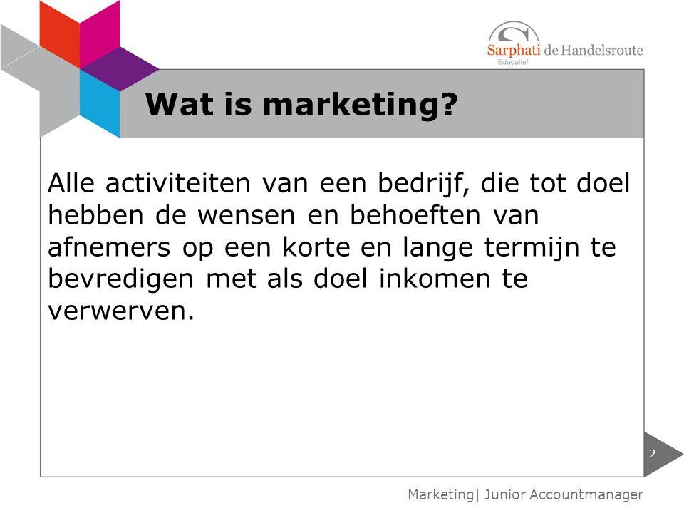 Wat is marketing