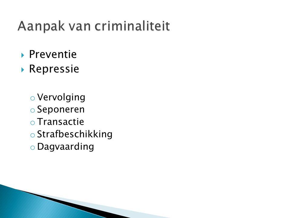 Aanpak van criminaliteit