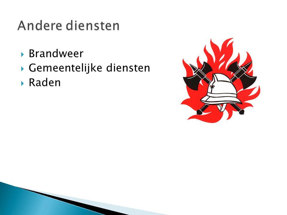 Andere diensten Brandweer Gemeentelijke diensten Raden
