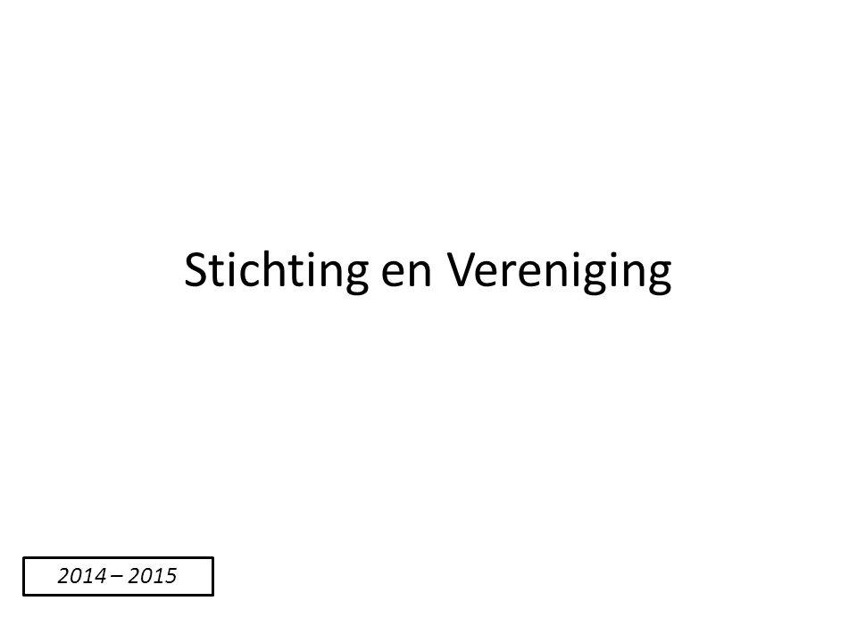 Stichting en Vereniging
