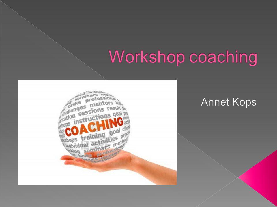 Workshop coaching Annet Kops