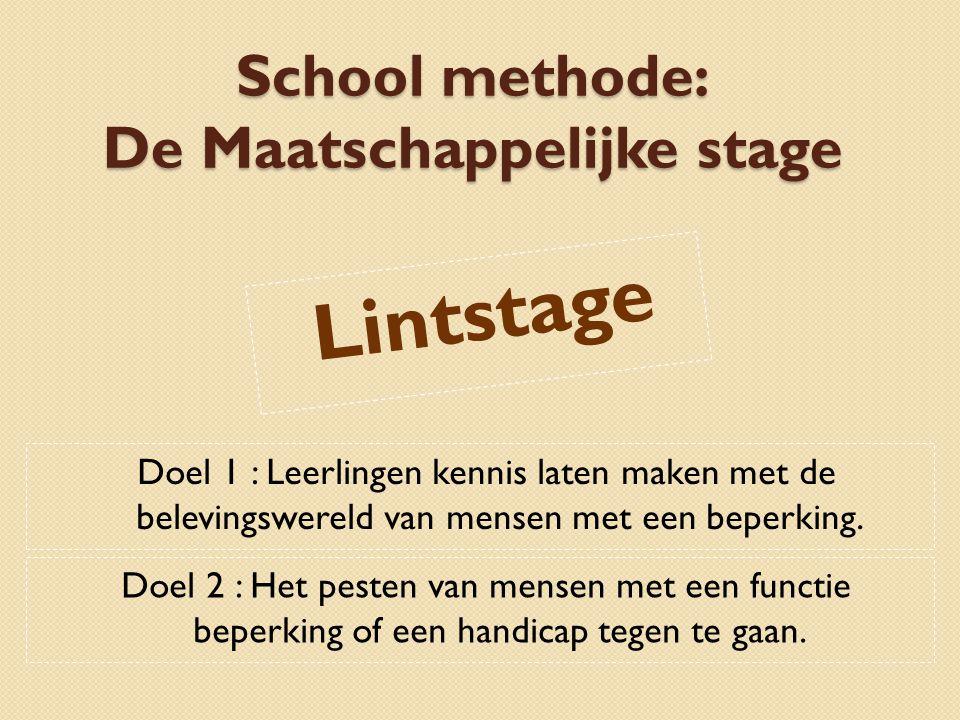 De Maatschappelijke stage