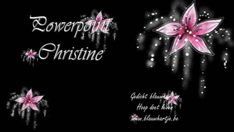Powerpoint Christine Gedicht blauwhartje Hoop doet leven