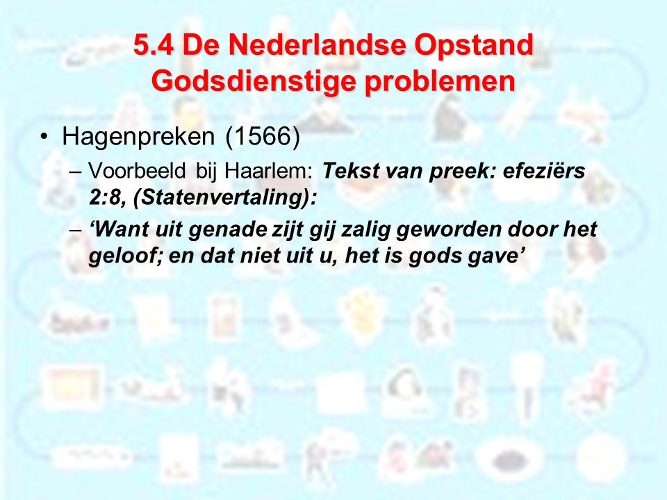 5.4 De Nederlandse Opstand Godsdienstige problemen