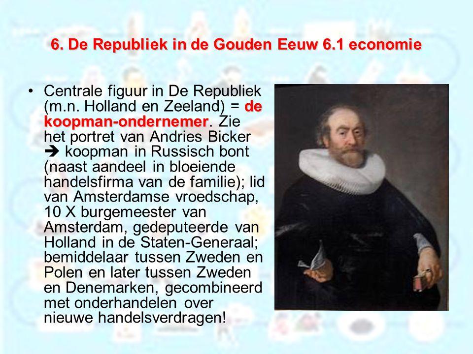 6. De Republiek in de Gouden Eeuw 6.1 economie