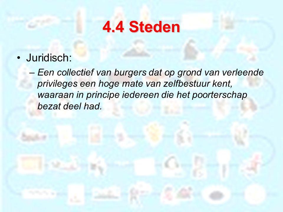 4.4 Steden Juridisch: