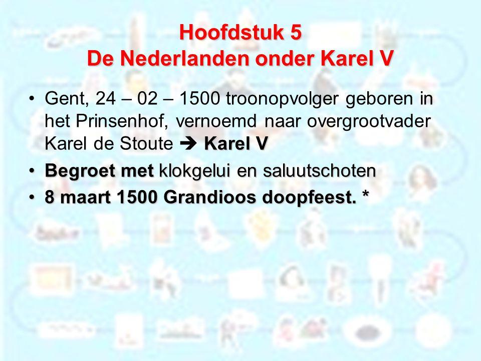 Hoofdstuk 5 De Nederlanden onder Karel V