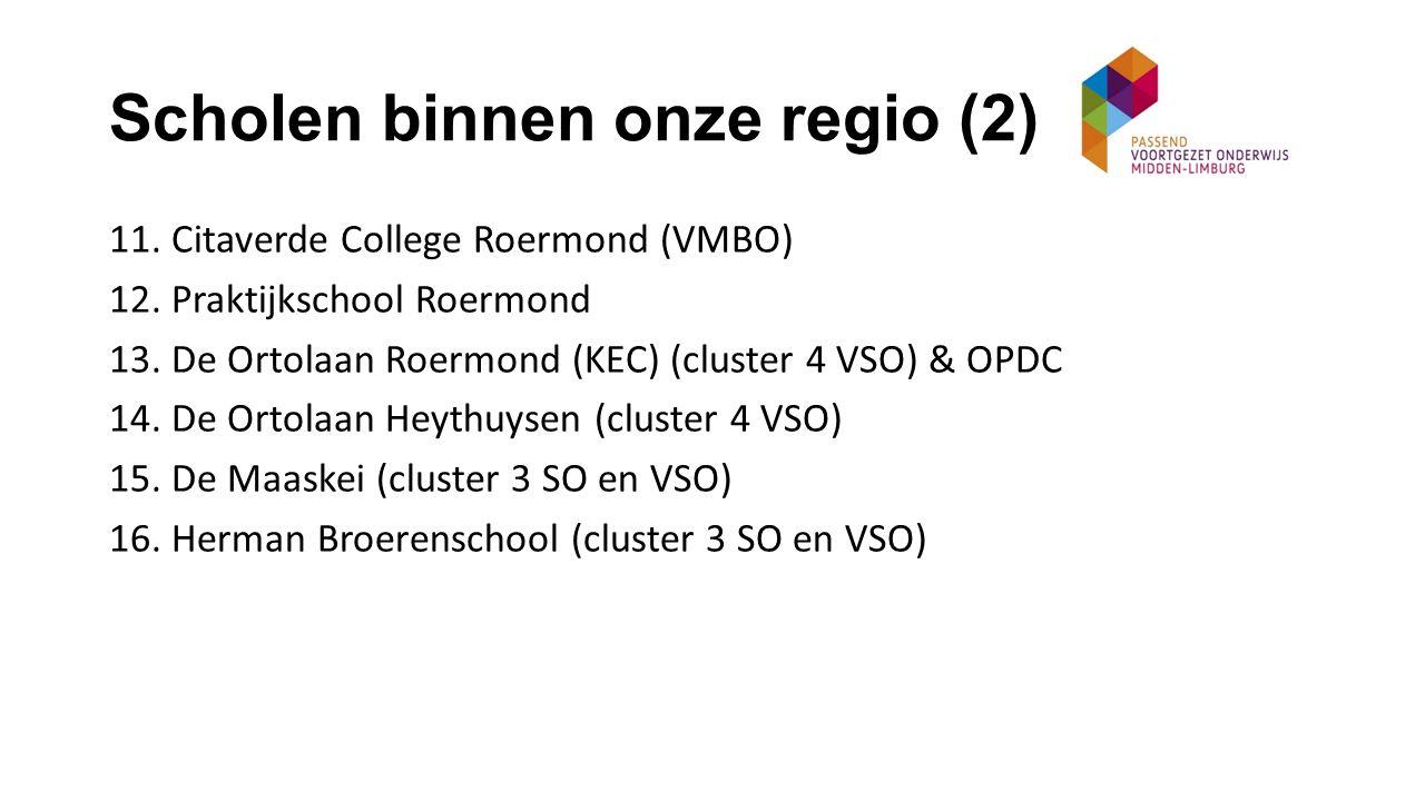 Scholen binnen onze regio (2)