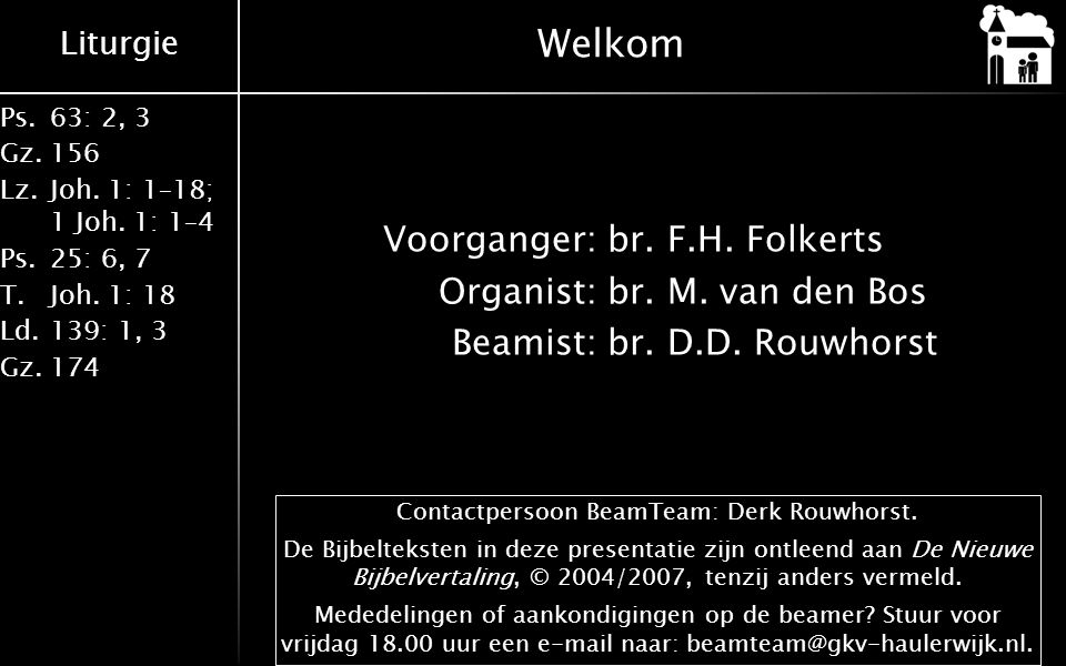 Contactpersoon BeamTeam: Derk Rouwhorst.