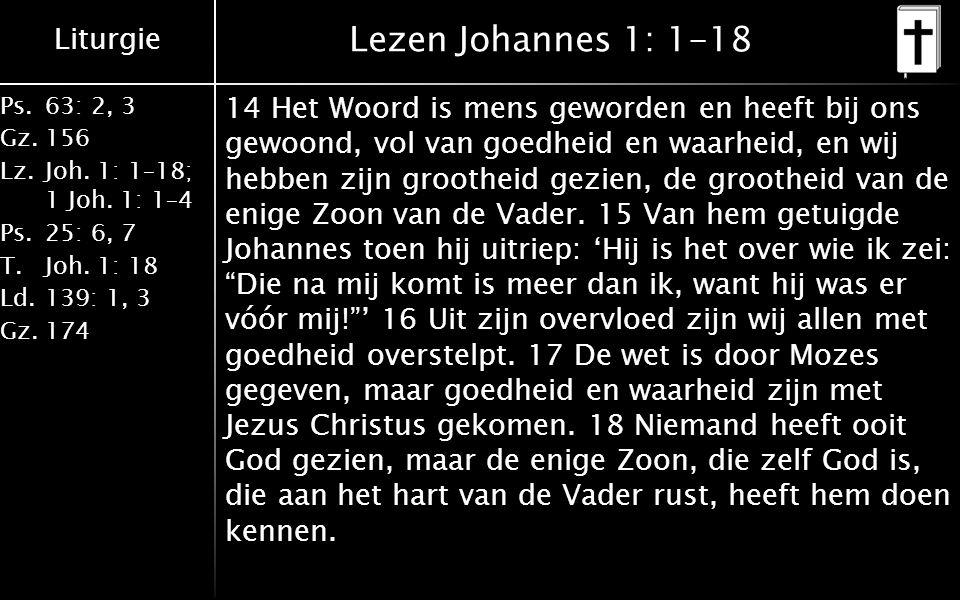 Lezen Johannes 1: 1-18