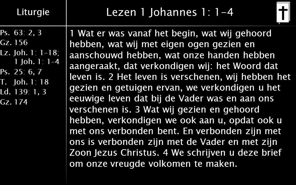 Lezen 1 Johannes 1: 1-4