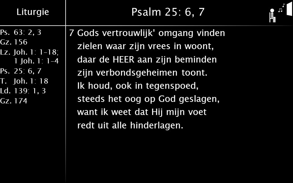 Psalm 25: 6, 7