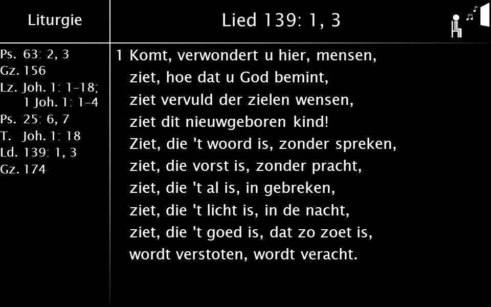 Lied 139: 1, 3