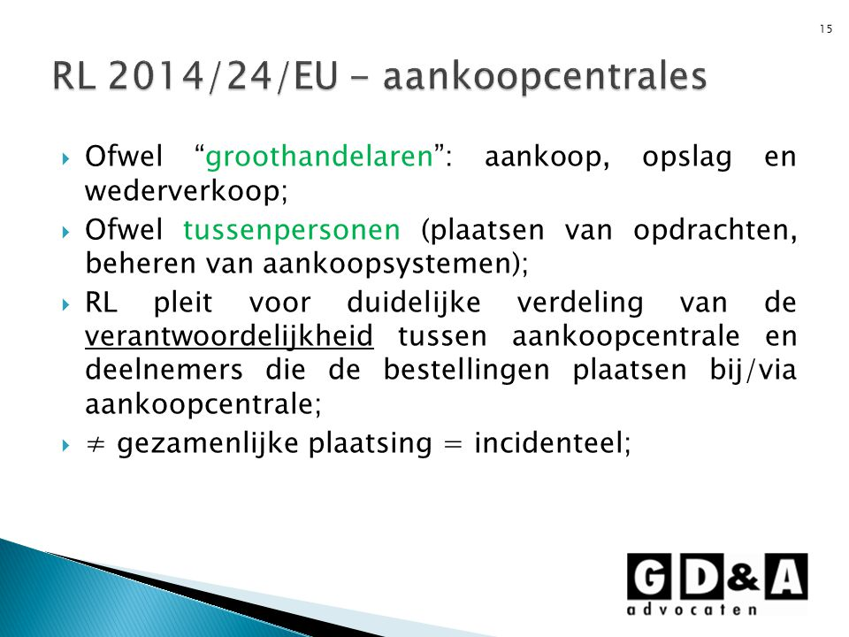 RL 2014/24/EU - aankoopcentrales