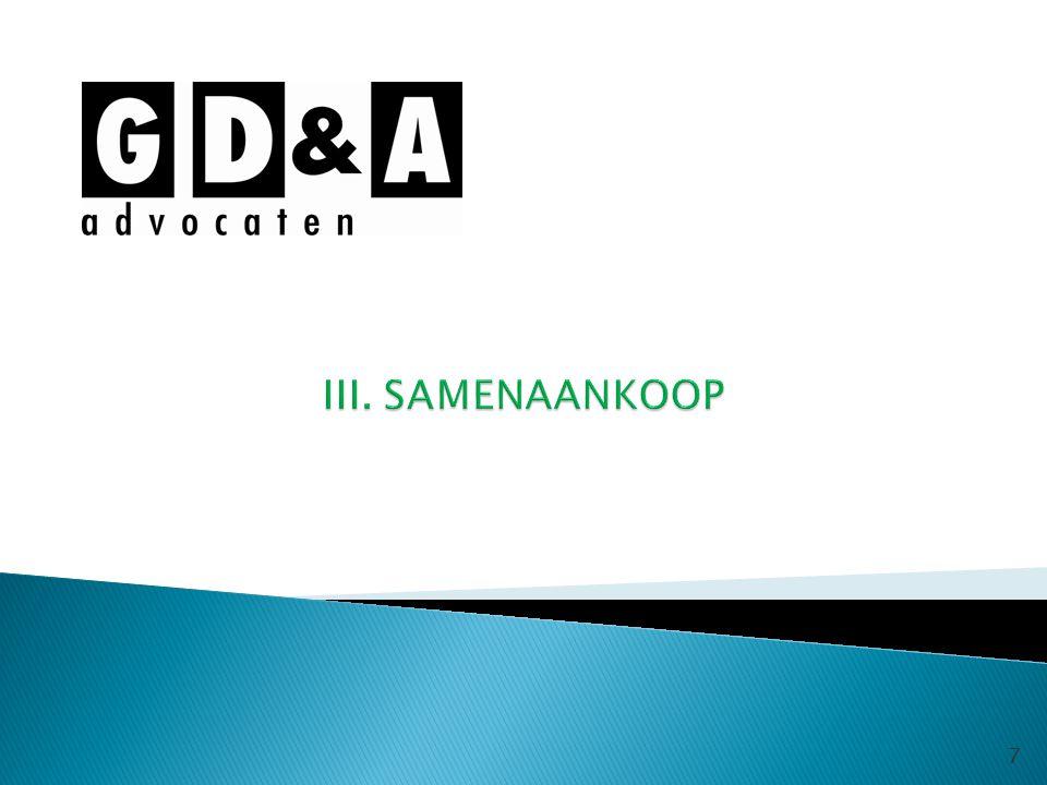 III. SAMENAANKOOP