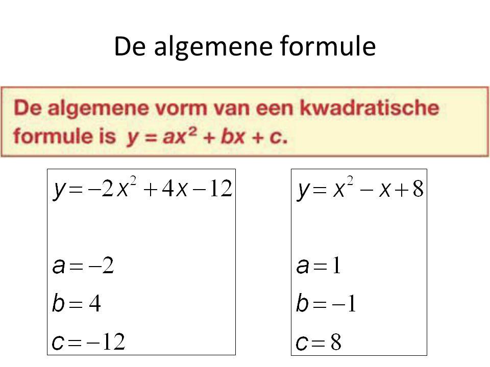 De algemene formule