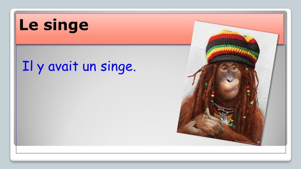 Le singe Il y avait un singe.