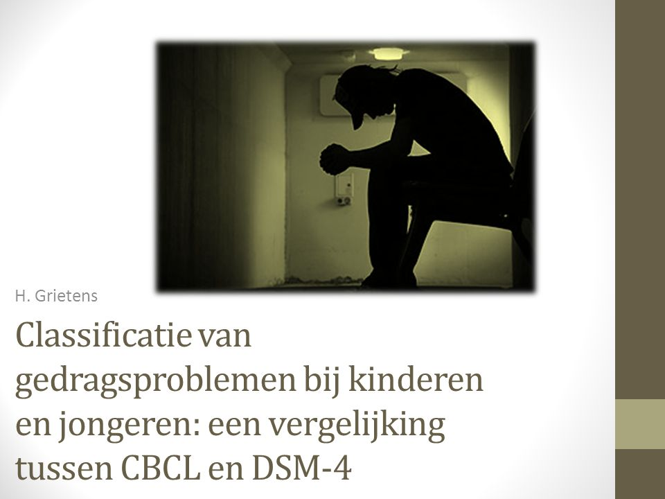 Classificatie van gedragsproblemen bij kinderen en jongeren: een vergelijking tussen CBCL en DSM-4
