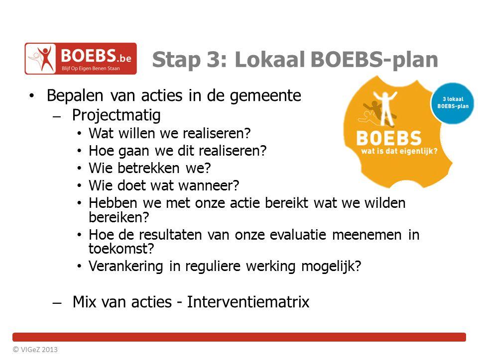 Stap 3: Lokaal BOEBS-plan