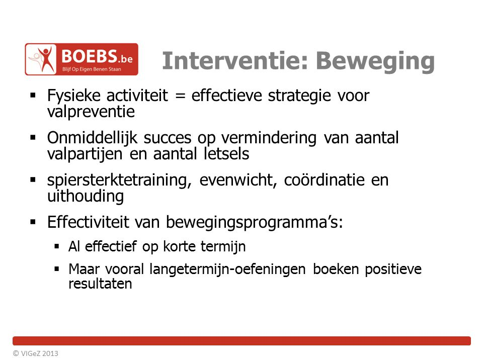 Interventie: Beweging