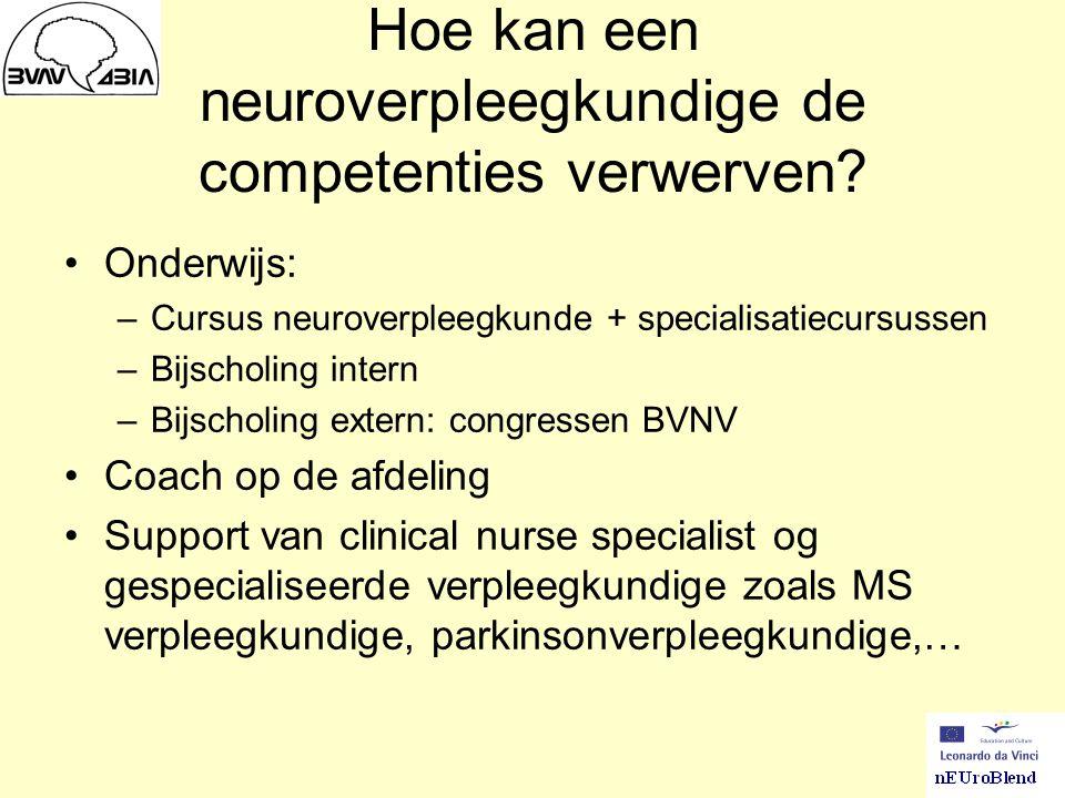 Hoe kan een neuroverpleegkundige de competenties verwerven
