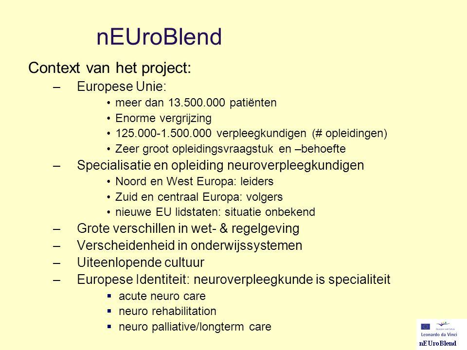 nEUroBlend Context van het project: Europese Unie: