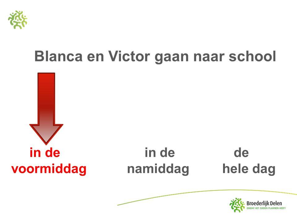 Blanca en Victor gaan naar school