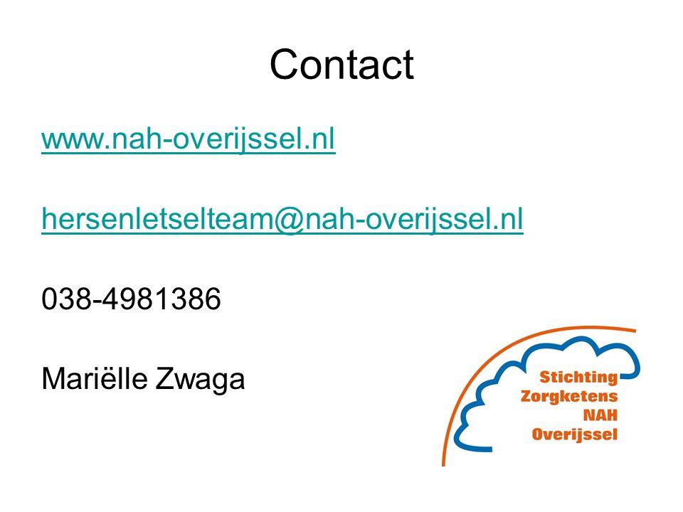 Contact www.nah-overijssel.nl hersenletselteam@nah-overijssel.nl