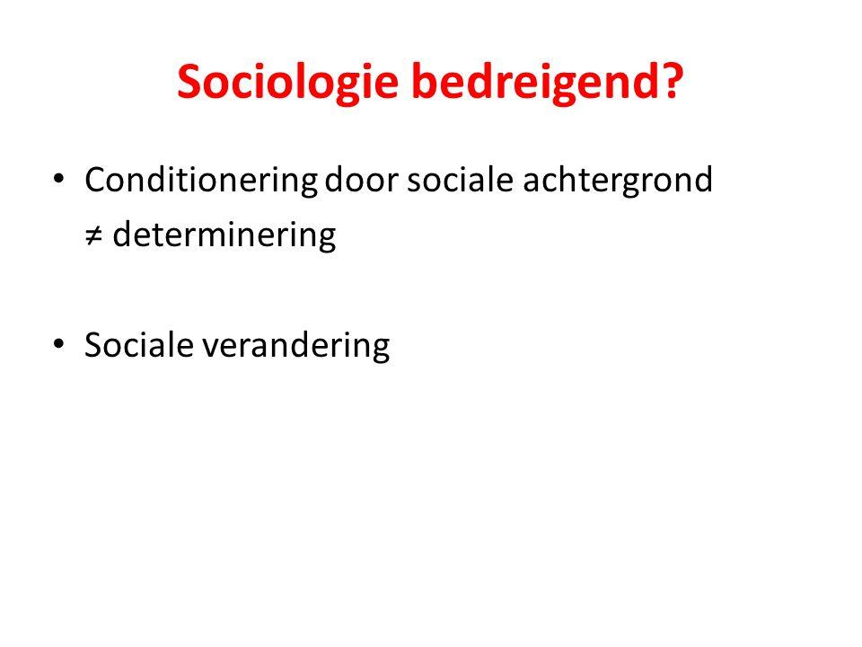 Sociologie bedreigend
