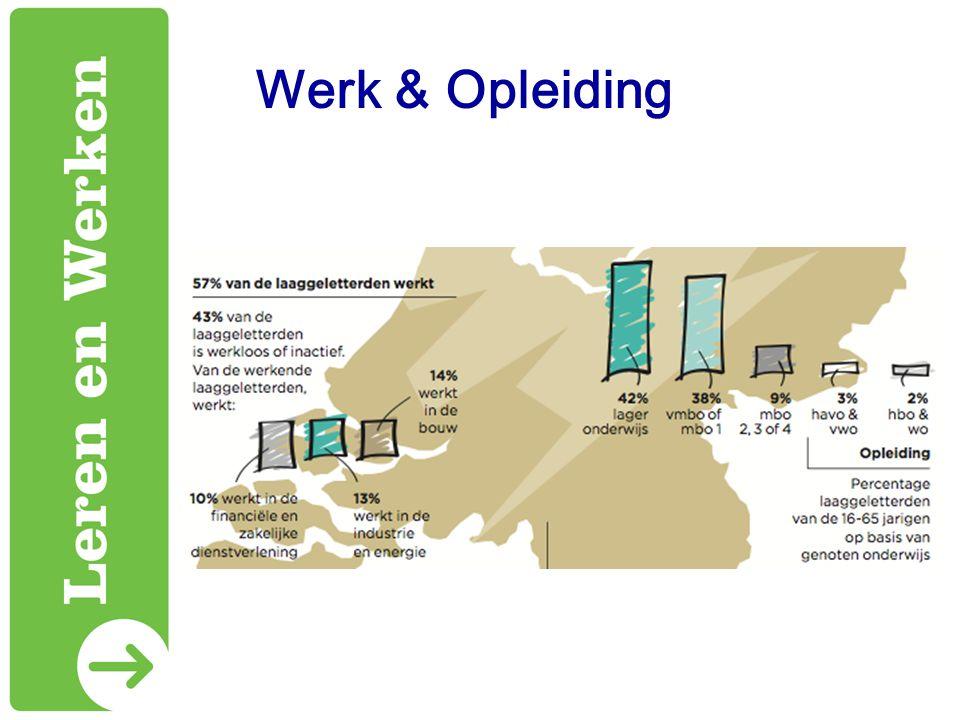 Werk & Opleiding Als we nog even verder kijken: 57% werkt.