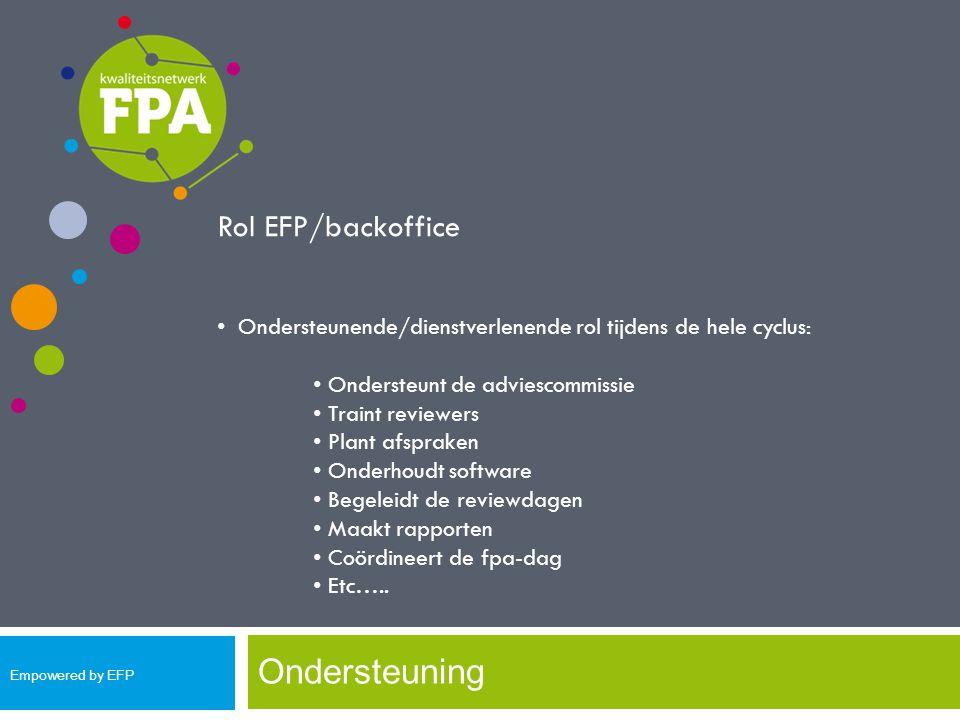 Ondersteuning Rol EFP/backoffice