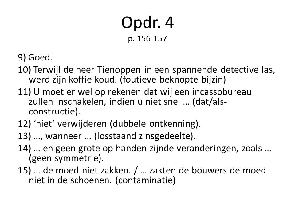 Opdr. 4 p. 156-157