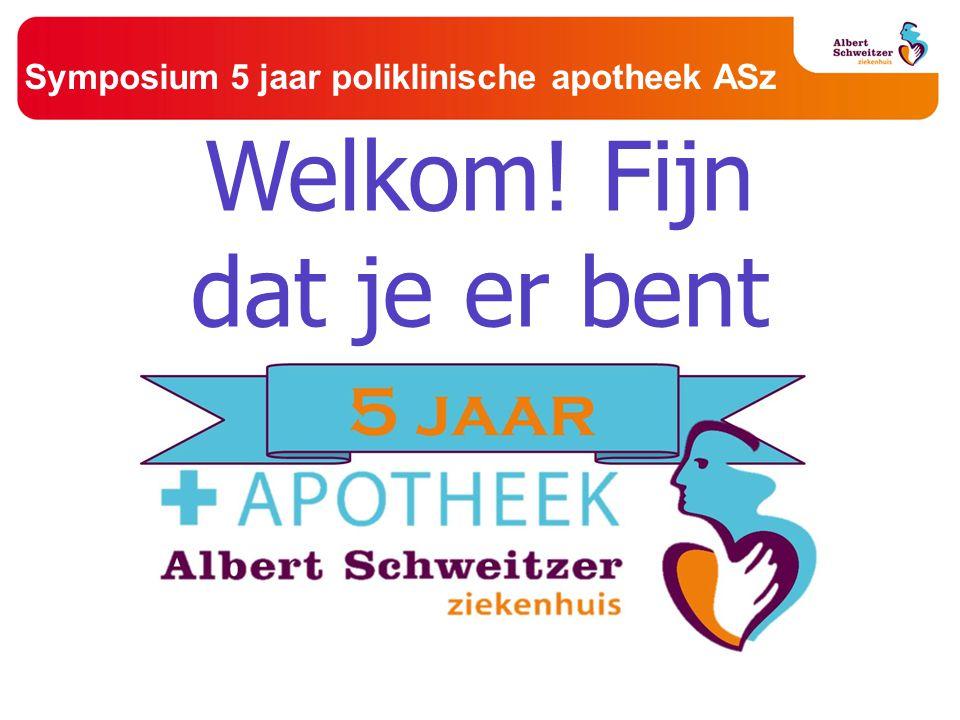 Symposium 5 jaar poliklinische apotheek ASz