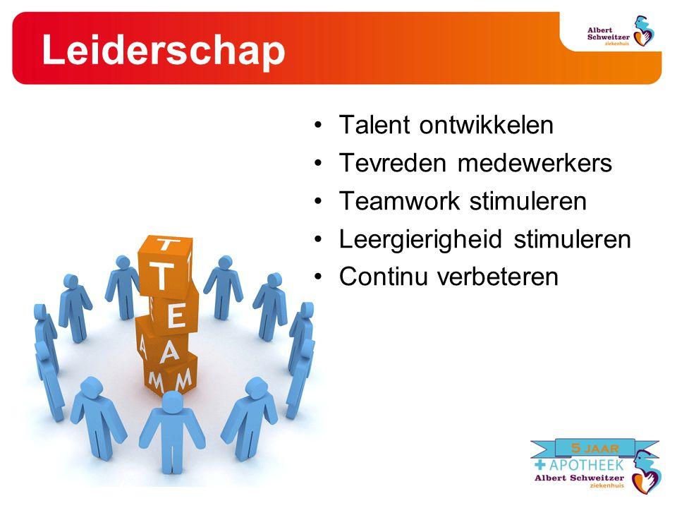Leiderschap Talent ontwikkelen Tevreden medewerkers