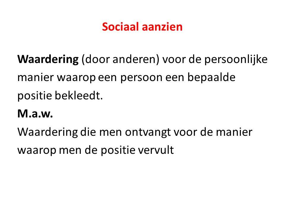 Sociaal aanzien