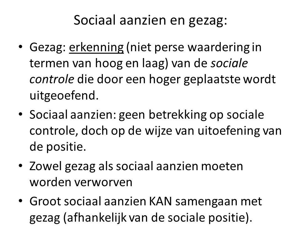 Sociaal aanzien en gezag: