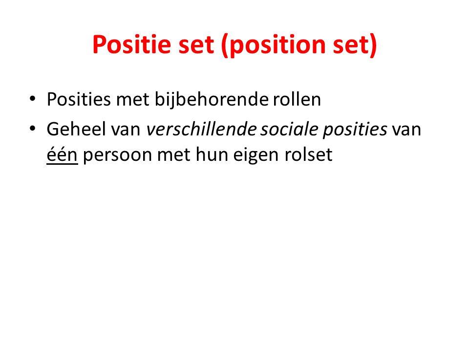 Positie set (position set)