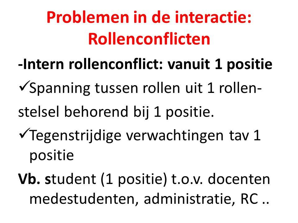 Problemen in de interactie: Rollenconflicten
