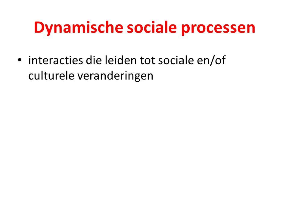 Dynamische sociale processen
