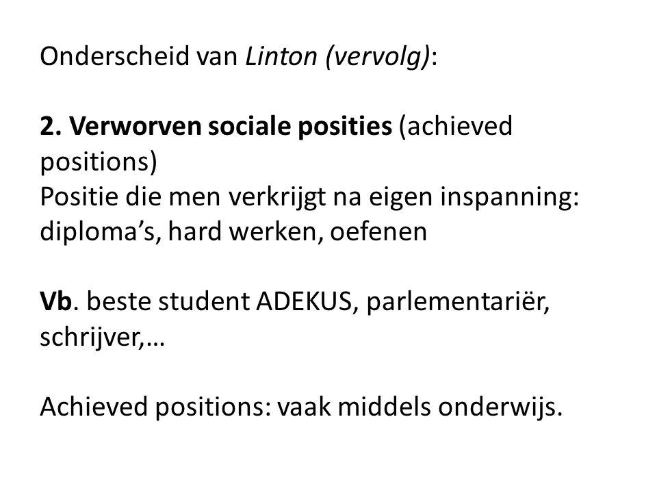 Onderscheid van Linton (vervolg):