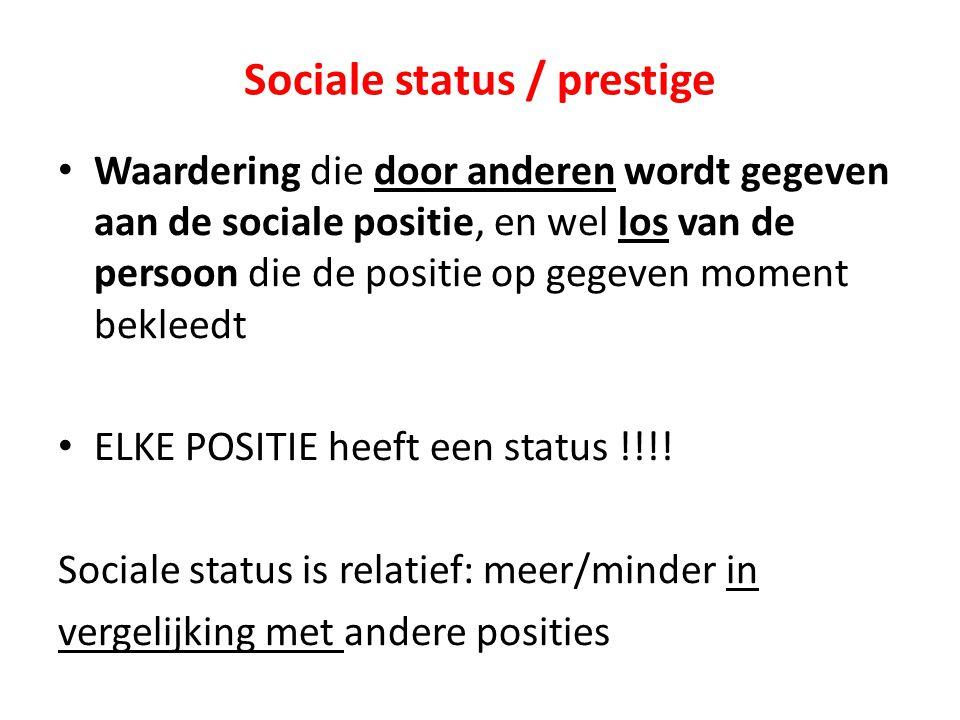 Sociale status / prestige