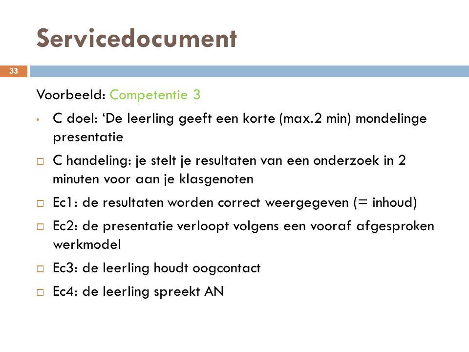 Servicedocument Voorbeeld: Competentie 3