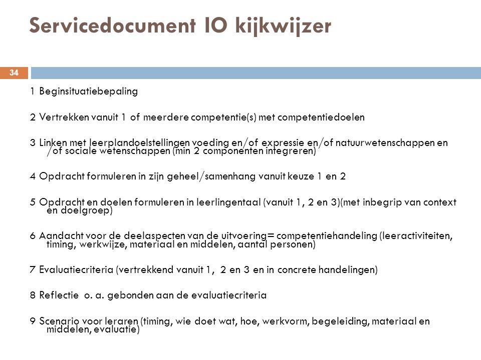 Servicedocument IO kijkwijzer