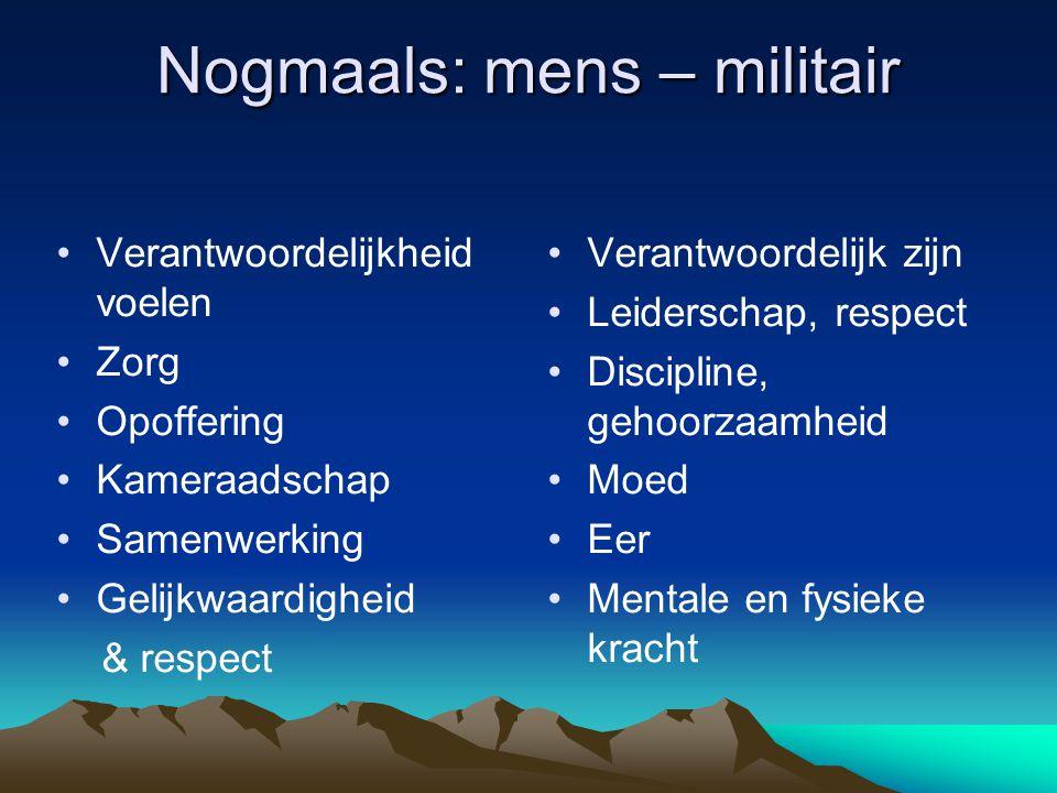 Nogmaals: mens – militair